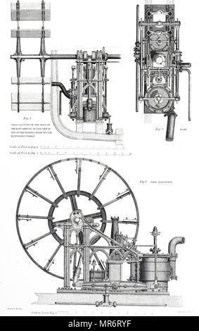 Marine Steam Engine, 19th Century Stock Photo: 135042773