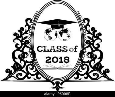 Graduation Cap Logo Template Design Elements vector