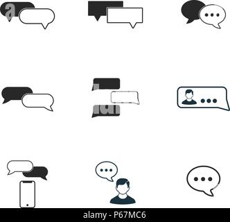 Contact Icon set. Vector illustrations. Flat design Stock