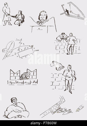 Othello Production Plan Sketches by Stanislavski 1938