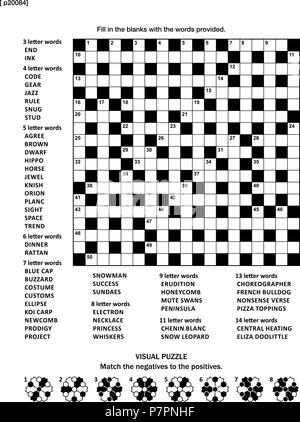 Puzzle page with two puzzles: 19x19 criss-cross (kriss