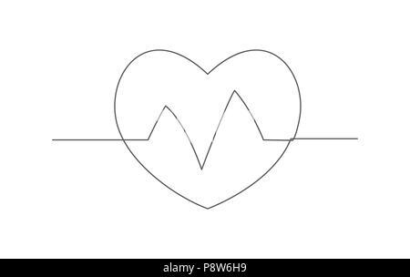 drawing heart beat health care medical Stock Vector Art