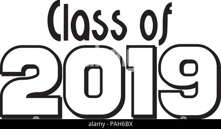 Class of 2019 Banner Logo Stock Vector Art & Illustration