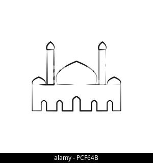 Mosque line icon, outline vector sign, linear style