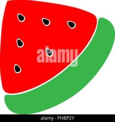 watermelon simple fruit cute seeds background illustration slice vector alamy abstract piece children
