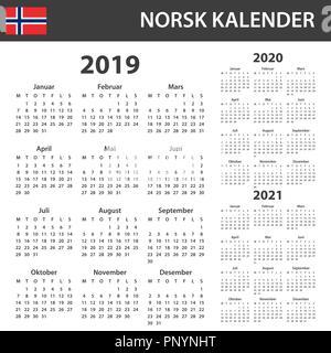 Norwegian Calendar for 2019. Scheduler, agenda or diary