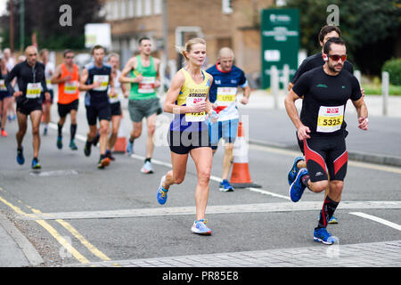 Nottingham UK, The route is on closed roads with plenty of support and marshalls along the way, all the races offer a different experience for runners with different ages and abilities, Full, and finishes at Musselburgh racecourse, Marathons .org.uk has information about races, 30th September 2018: Nottingham Ikano half ...