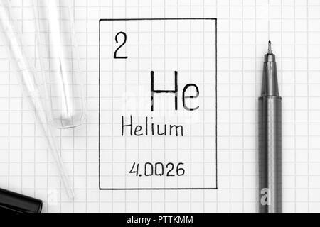 Helium chemical element periodic table science symbol
