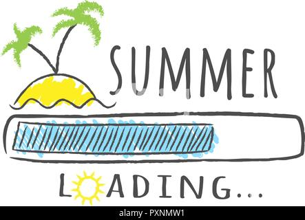 Vacation Loading Bar In Yellow Stock Photo Alamy