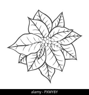 Christmas coloring page. Adult coloring book. Cute snowman