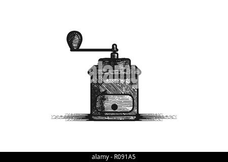 Coffee cup and coffee maker geyser, vector illustration