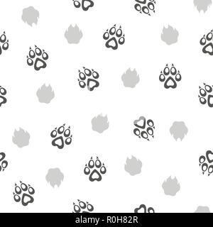 Animals silhouette seamless pattern. Wildlife tiled