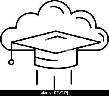 Graduated student vector icon isolated on transparent
