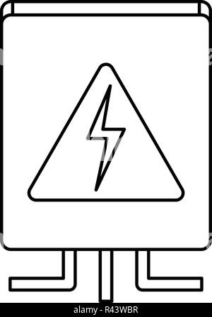 Circuit breaker icon. White background with shadow design