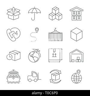 Logistic Warehouse Delivery Shipping Icon Pictogram Stock