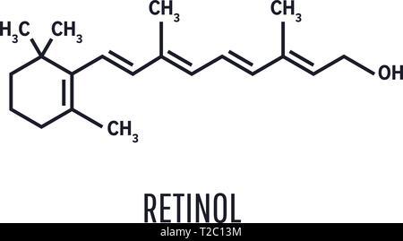 Vitamin A (retinol) molecule. Skeletal formula (chemical