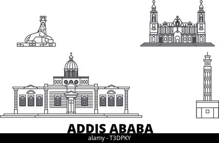 Ethiopia silhouette skyline. Ethiopia vector city