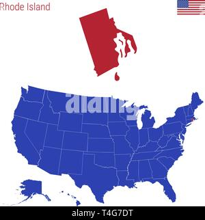 Huge collection, amazing choice, 100+ million. Map Of Usa With Highlighted Rhode Island Map Gray Map Of Us State Rhode Island With Neighboring Countries Stock Vector Image Art Alamy