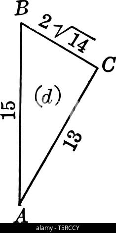 The image shows the right triangle with sides 7 and 1 and