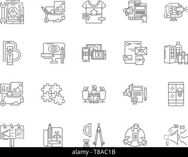 Agile software development vector icon set Stock Vector
