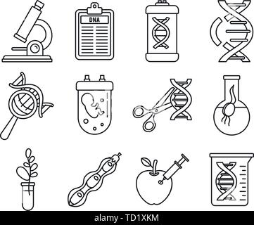 Scientific vector illustration genetic engineering and