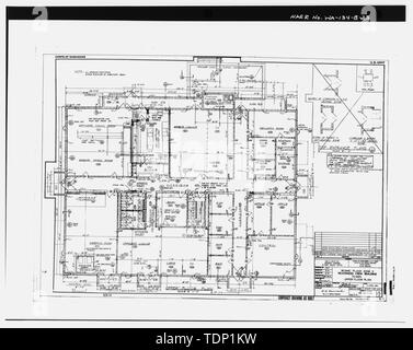 Photocopy of drawing (1958 civil engineering drawing by