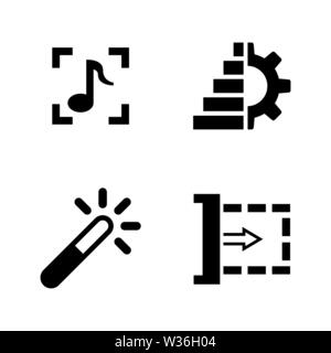 Simple Set of Cinema Related Vector cartoon outline Icons