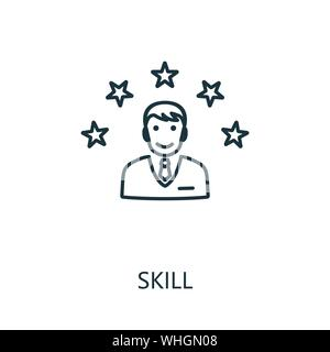 Employee potential vector line icon, linear concept