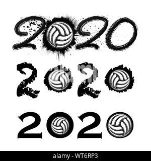 Volleyball Poster Vector. Sport Event Announcement. Ball