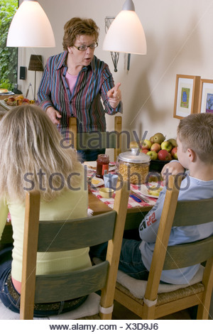 Stressed mother and child being told off Stock Photo 25061742  Alamy