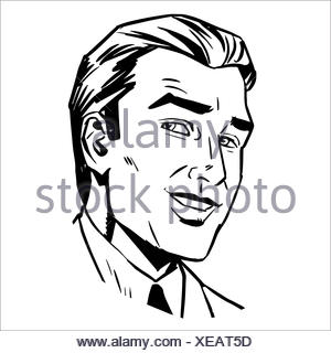 man face smiling sketch graphics Stock Vector Art