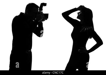 Rckansicht der Frau zu fotografieren MdchenFotograf in