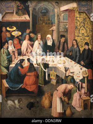 Neuen Testaments Evangelium nach Johannes Hochzeit zu Kana Jesus verwandelt Wasser in Wein