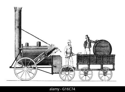 Stephensons Rocket Lok, 1829 im Science Museum, London, UK