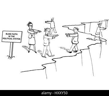 Karikatur von Business-Team-Blick auf den Chef der Ausruf