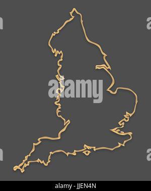 Vereinigtes Knigreich Umriss Silhouette Karte Abbildung