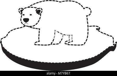Schwarz / weiß Bärentatze mit Krallen Vektor Abbildung