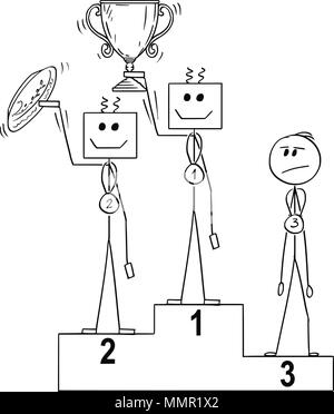 Vektor Siegertreppchen mit dem ersten, zweiten und dritten