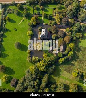 Luftaufnahme Grabenlffel Schloss Haus Voerde Voerde Niederrhein Region Region Ruhrgebiet