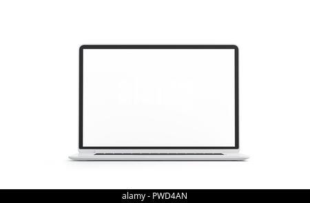 Laptop Computer mit leeren Bildschirm auf hölzernen