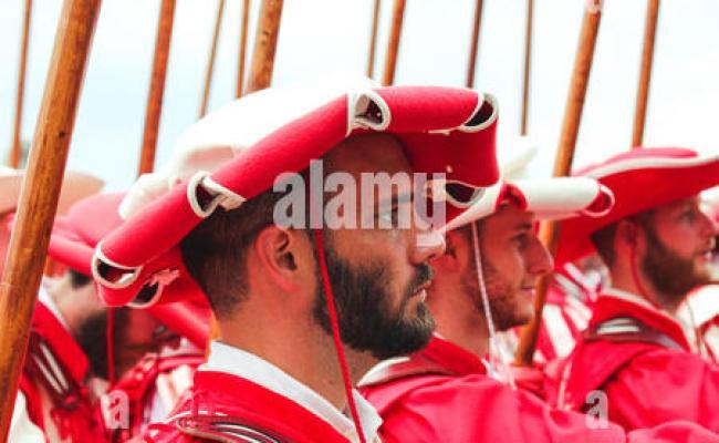 Vevey Schweiz 1 August 2019 Traditionelle Parade Am