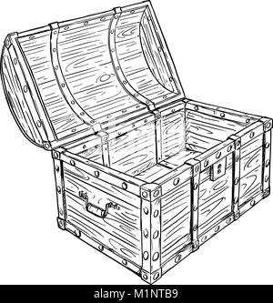 Caricatura Dibujo Vectorial del viejo pirata abrir el