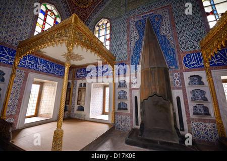 La chambre priv du sultan Murad III dans le harem de Palais Topkapi Istanbul Turquie Banque D