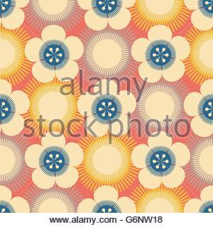 Il giapponese Sakura seamless pattern con fiori stilizzati Sfondo costituito senza maschera di ritaglio Facile da usare per il fondale tessile