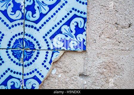 Portoghese Azulejos piastrelle del pavimento pattern Lisbona seamless indigo piastrelle blu