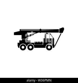Gru mobile truck icona vettore. Attrezzature da