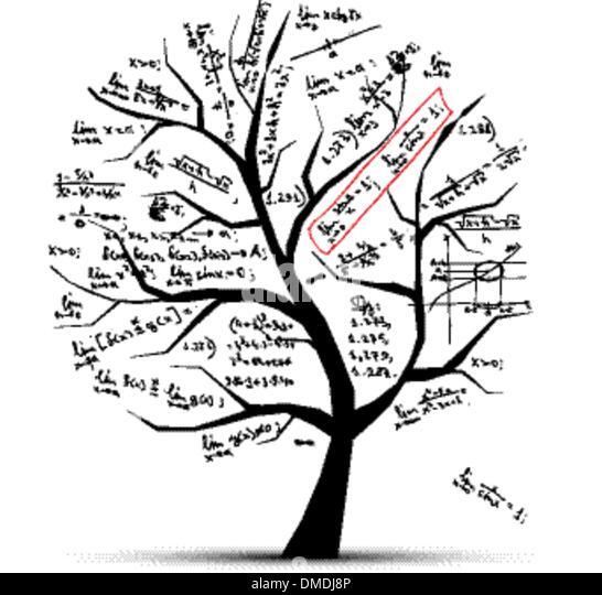 Math tree for your design Stock Vector Art & Illustration