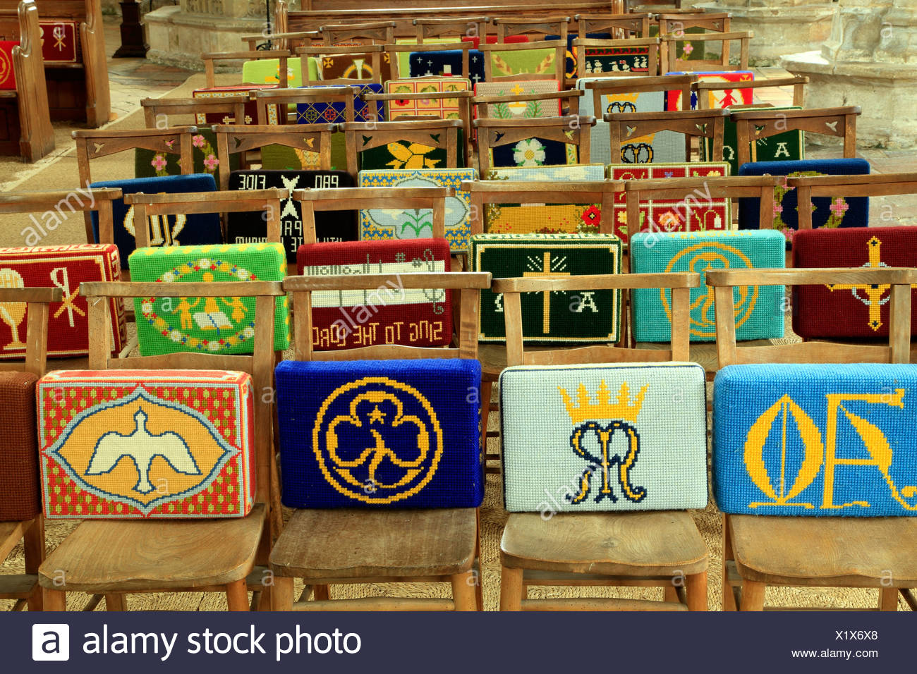 church chairs with kneelers lane recliner hassocks stock photos and images alamy