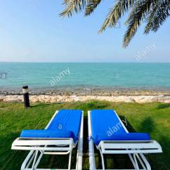 Folding Chair Qatar Cover Rentals Albany Ny Sun Loungers Overlooking The Persian Gulf Doha Middle East Asia