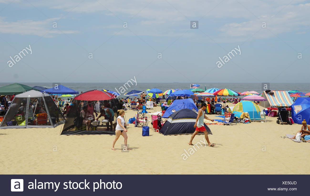 hight resolution of beach at asbury park in new jersey